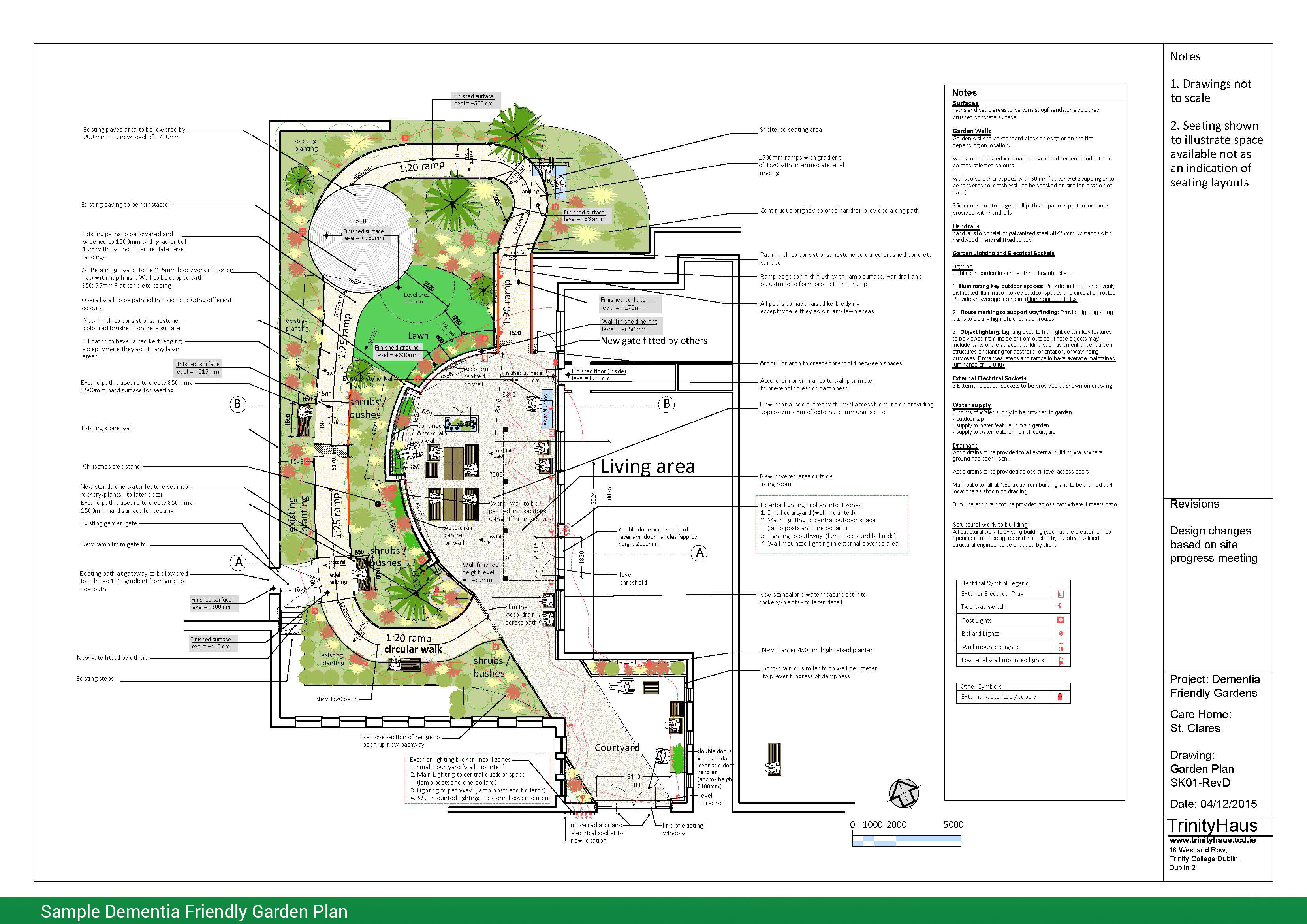 Dementia Friendly Garden Plans Newtown Saunders Ltd